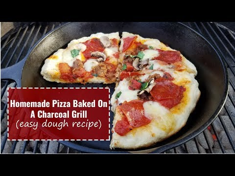 How To Make A Homemade Pizza On The Grill [Easy Dough Recipe]