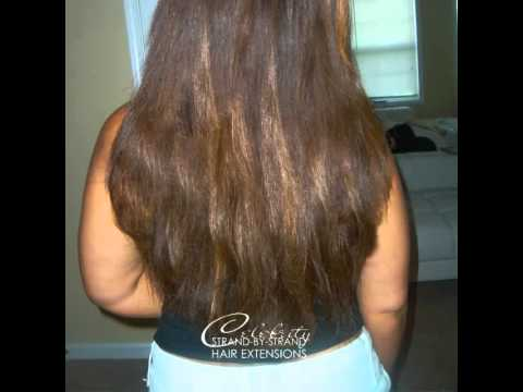brazilian knot extensions celebrity strand by strand hair extensions youtube