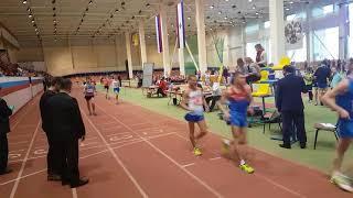 Финиш чемпионата Мордовии по спортивной ходьбе на 5 км мужчины молодежь и юниоры