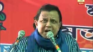 Mithun mentions ABP Ananda-Nielsen survey is his speech at a TMC poll rally