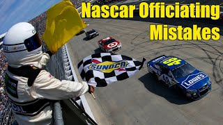 Nascar Officiating Mistakes