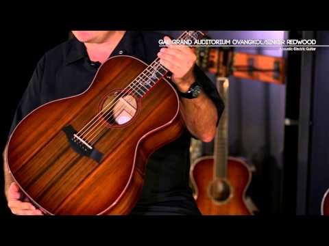 Taylor GAE Auditorium Ovangkol/Sinker Redwood Guitar