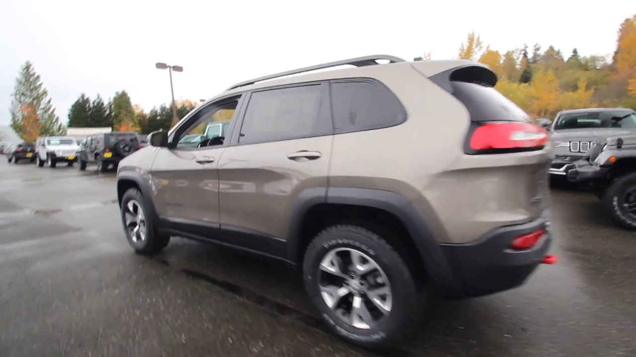 Jeep Cherokee 4X4 >> 2018 Jeep Cherokee Trailhawk 4x4 | Light Brownstone ...