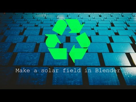 Blender Tutorial- Create A Solar Field