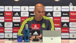 Zidane nos habla sobre el próximo partido contra el Getafe