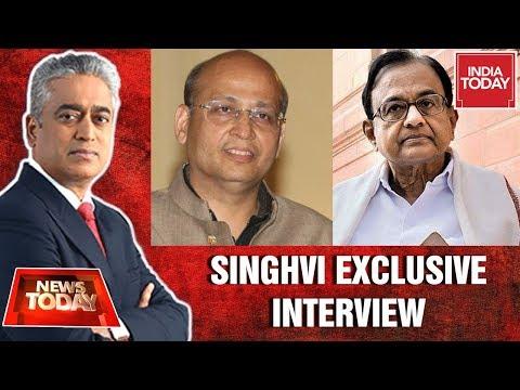 Chidambaram's Counsel, Abhishek Singhvi Speaks On CBI Court Order | India Today Exclusive