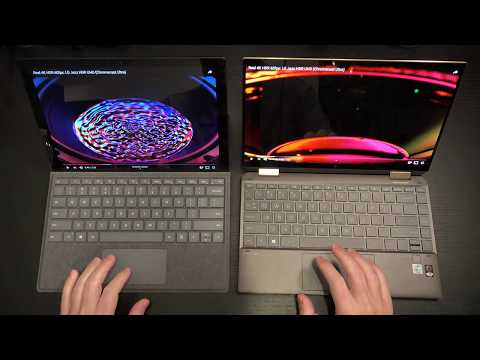 HP Spectre X360 Late 2019 vs Microsoft Surface Pro 7