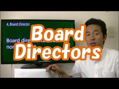 #008 Board  Directors in Japan - Start Business in Tokyo