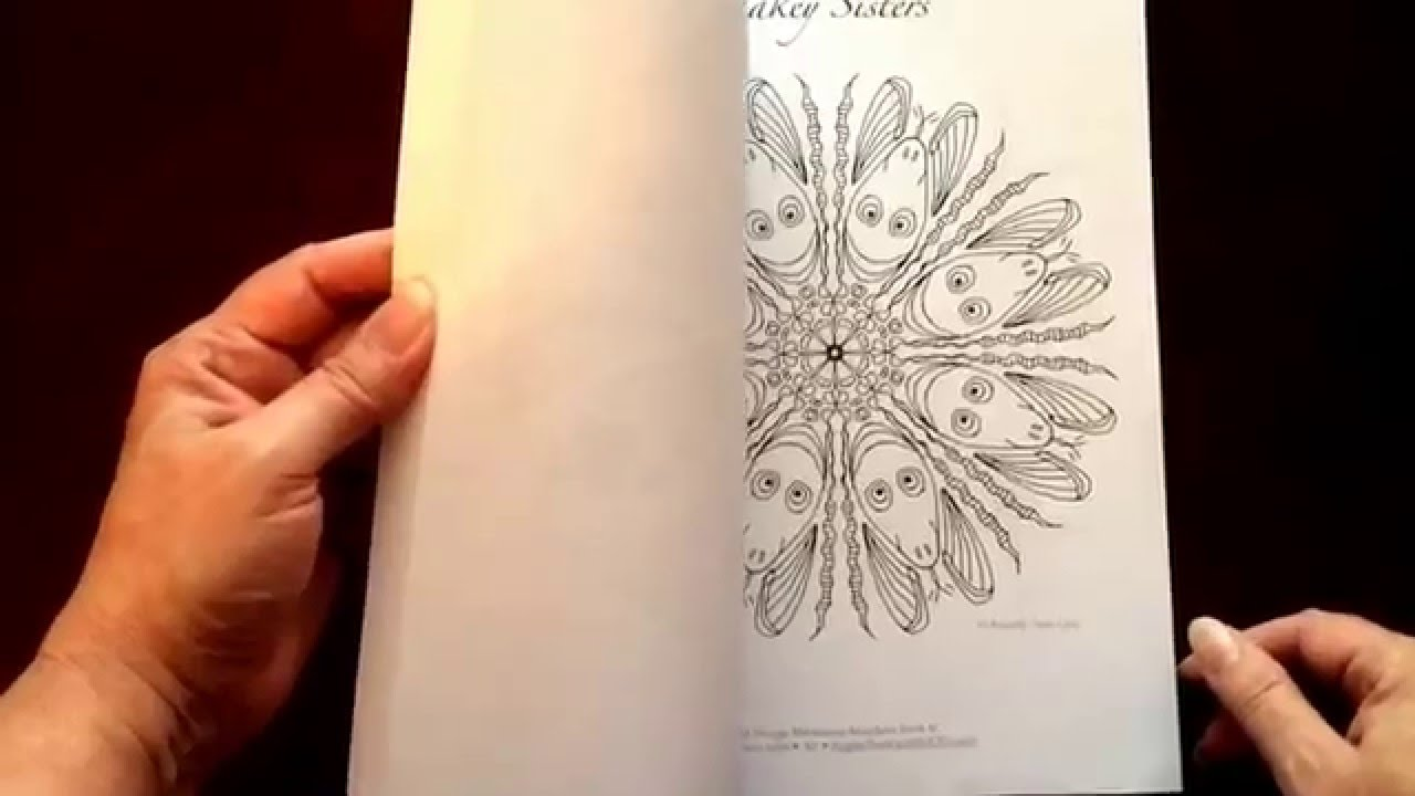 The mandala coloring book jim gogarty - Wild Things Mandalas For Meditative Coloring Book Iv By Angela Treat Lyon Youtube