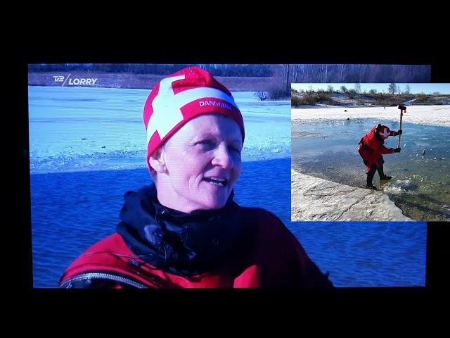 13.2.2021 Tak til TV 2 Lorry der var med til isbrydning og issvømning i Himmelsøen