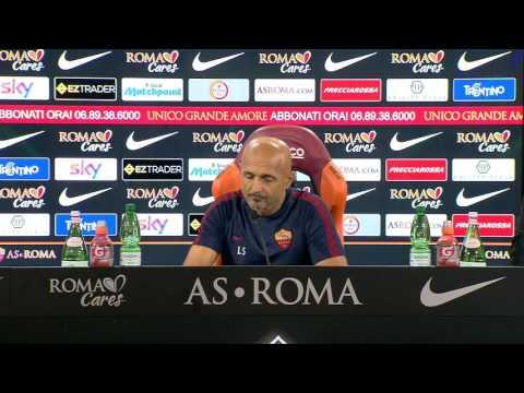 """Conferenza stampa Spalletti: """"Se smette Totti smetto anche io. Roma è l'ambiente ideale"""""""