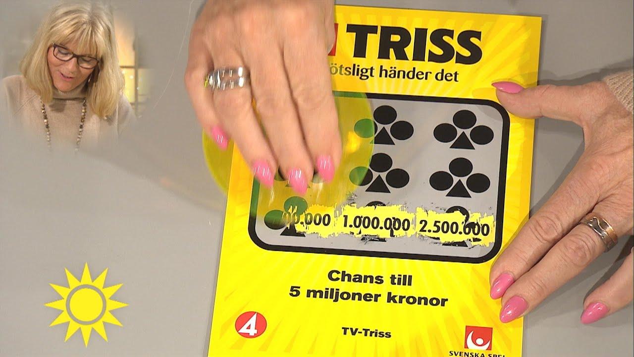 """Trissvinnaren Gunilla: """"Det här blir en bra födelsedagspresent"""" - Nyhetsmorgon (TV4)"""