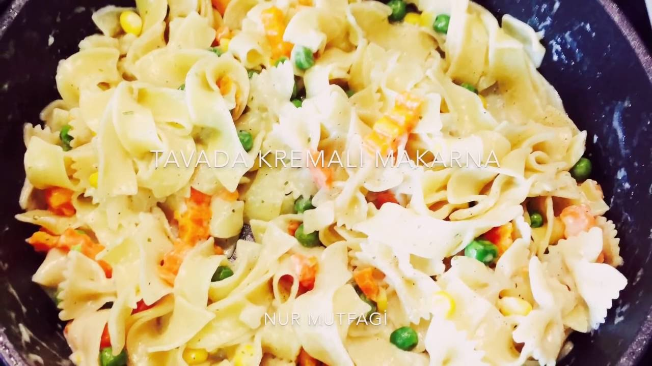 Sebzeli Kremalı Spagetti Tarifi