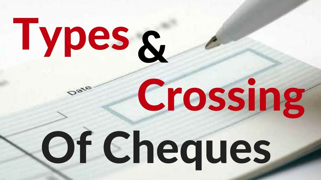 how to write a crossed cheque