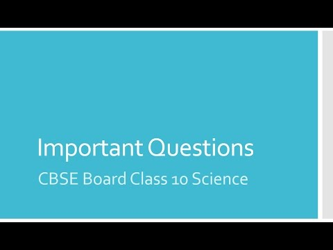 class 10 science important questions