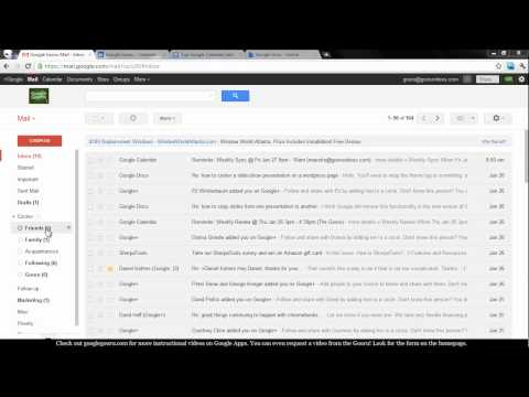Google+ Circles in Gmail