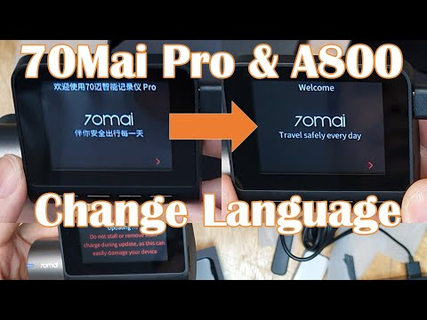 Xiaomi 70Mai Pro Change Language Chinese To English Firmware Update Download | Dash Cam Unboxing
