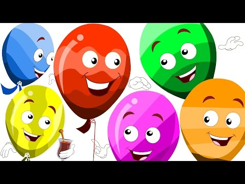 learn colors with balloons   the balloon song   original kids rhymes   colors song   kids tv