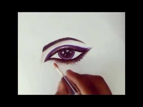 How to draw a beautiful eye ii eye makeup drawing ii youtube how to draw a beautiful eye ii eye makeup drawing ii ccuart Images