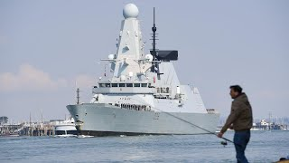 video: Watch: HMS Defender and HMS Diamond leave Portsmouth ready for Indo-Pacific deployment