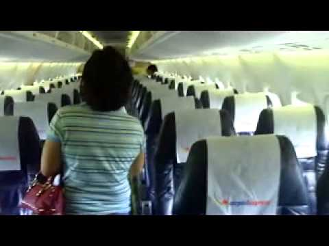 Amiel first time on the plane. Calbayog-Manila flight at Calbayog Airport..mp4