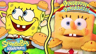 "SpongeBob Gets a Pie Bomb!  ""Dying For Pie"" IRL with Puppets! 