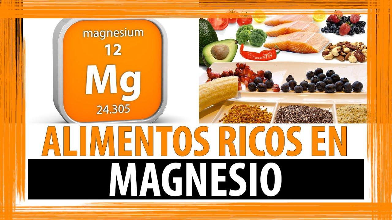 en que alimentos se encuentra el magnesio y el colageno