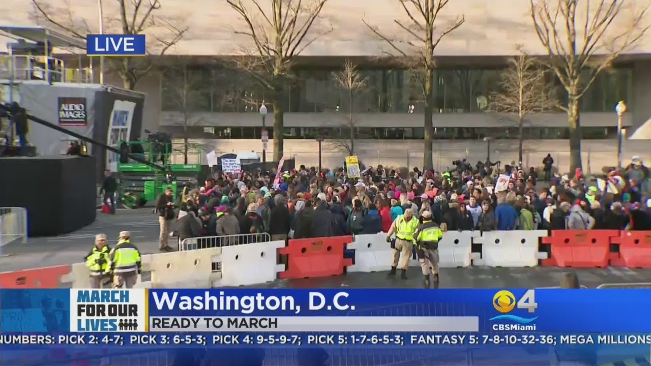 Protesters Arriving For DC March For Our Lives