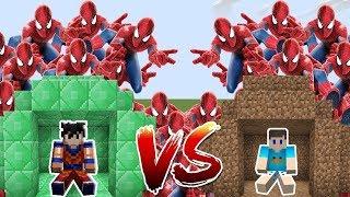 HOMEM ARANHA NO DESAFIO DA BASE VS TSUNAMI NO MINECRAFT!! (SPIDERMAN)