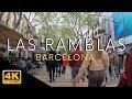 Las Ramblas Barcelona Entire Walk in 4k