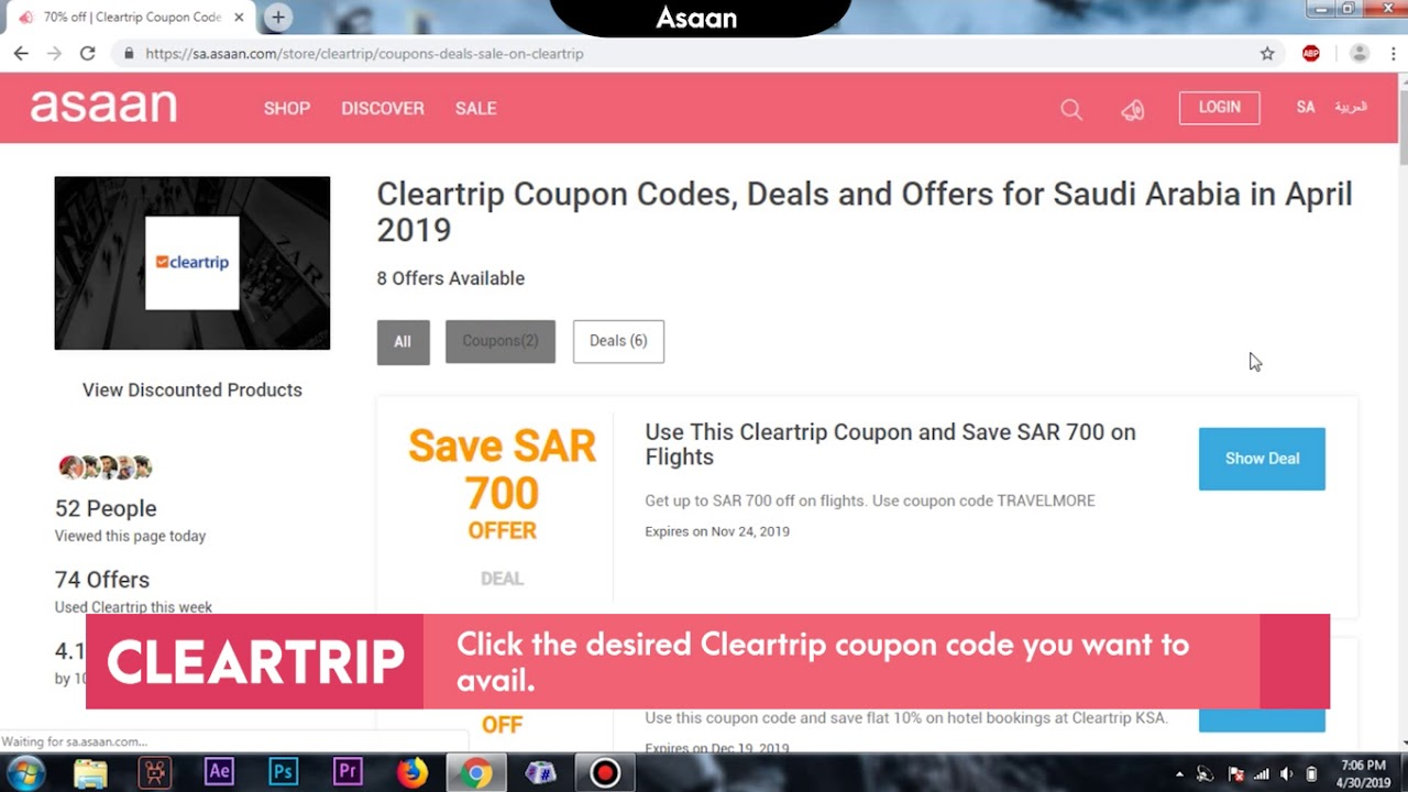 Avail Instant 20% Discount by Using Cleartrip Coupon Codes at Asaan