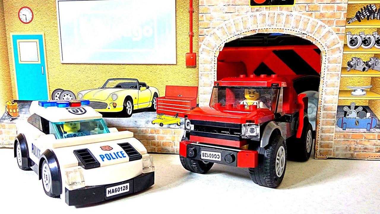 Машинки из Лего Сити????! Сборка Лего для мальчиков. Полицейская машинка ????