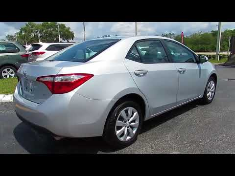 2015 Toyota Corolla Live Video! Tampa, Wesley Chapel, Brandon, New Port Richey, FL Live  P8948