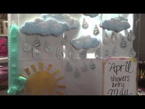 "Clear Pocket Letter share ~ ""April Showers bring May Flowers"""