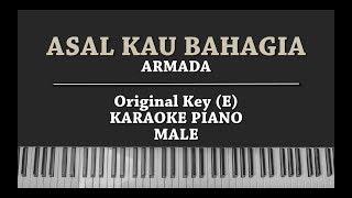 Asal Kau Bahagia (KARAOKE PIANO) Armada