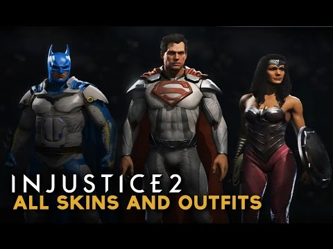 Injustice 2 - All SKINS & OUTFITS Customization (Character Shaders & Premiere Skins)