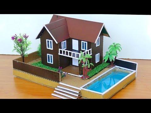 Building A Modern Cardboard Mansion Villa House #72 | Backyard Crafts