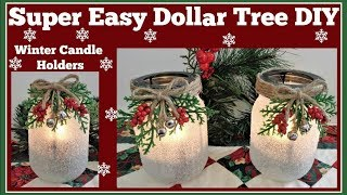 Winter Candle Holder� Easy Dollar Tree� DIY Sparkling