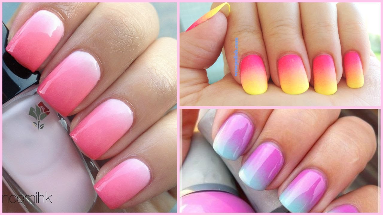 2e5ff5b477 DIY Ombré Nail Art : Easiest Tutorial Ever! | Styledbyaishyee - YouTube