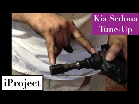 hqdefault kia sedona spark plugs youtube 04 Sonata V6 Ignition Coil Wiring Harness at sewacar.co