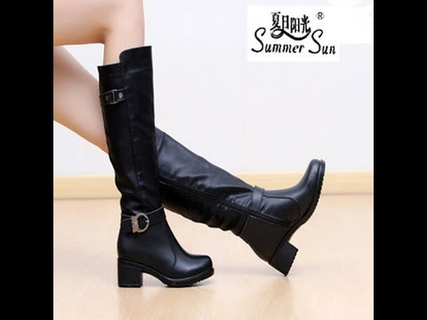 Сапоги кожаные женские - 2019 / Women's Leather Boots / Lederstiefel Für Die Damen