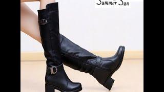 Сапоги кожаные женские - 2019 / Women's Leather Boots / Lederstiefel für die Damen