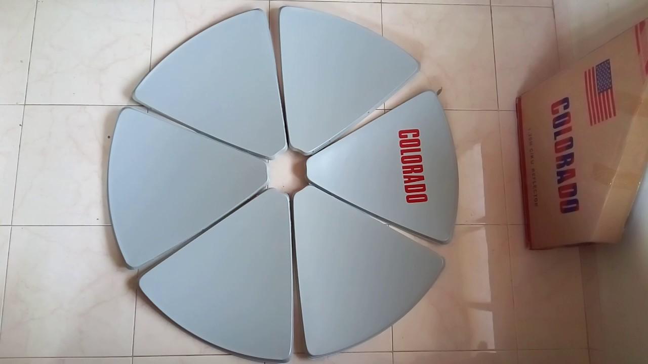 c ku band 4 feet 120 cm satellite reflector dish review youtube. Black Bedroom Furniture Sets. Home Design Ideas
