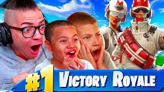 JAYDEN GETS HIS FIRST WIN WITH THE SQUAD!!! FORTNITE BATTLE ROYALE 10 YEAR OLD BROTHER AND MINDOFREZ