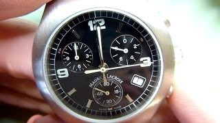 How to fit a new quartz watch movement. Watch repair techniques. ETA 251.262 chronograph