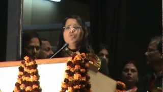 "Archanaz poem at the antar rashtriya kavi sammelan Lucknow and the ""Mahadevi Verma"" award to Archana"