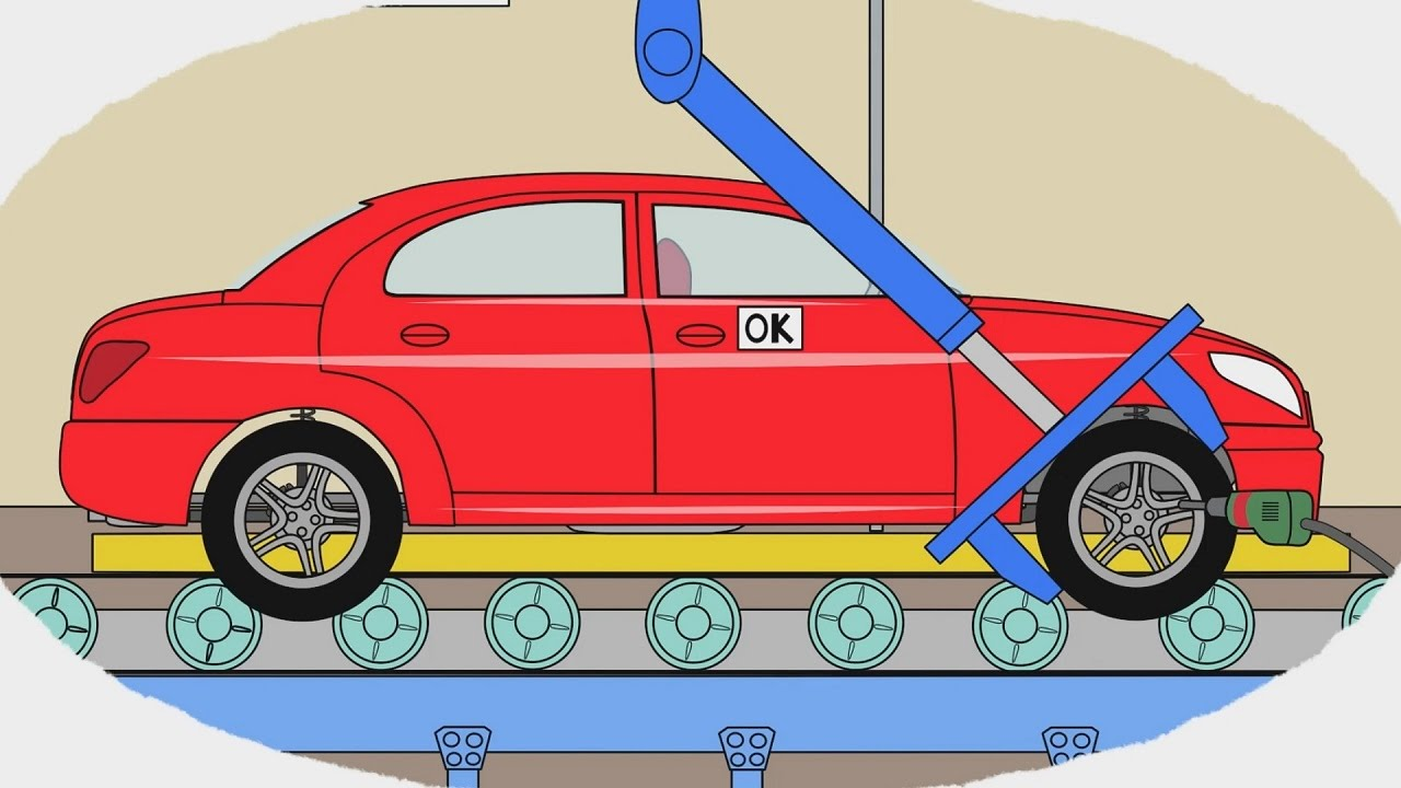 мультик раскраска учим цвета как делают легковые машины мультики про машинки для детей