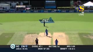 MS Dhoni 79 of 73 balls Highlights HD | India vs New Zealand | 4th odi 28 jan 2014