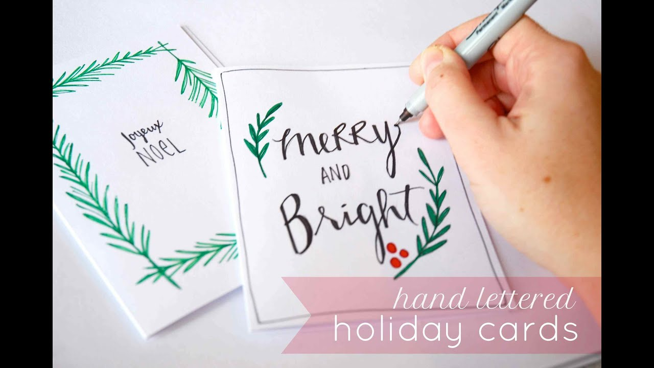 hand lettered holiday cards youtube