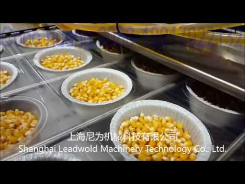 video of popcorn thermoforming&vacuum packing and sealing machine from shanghai leadworld coco